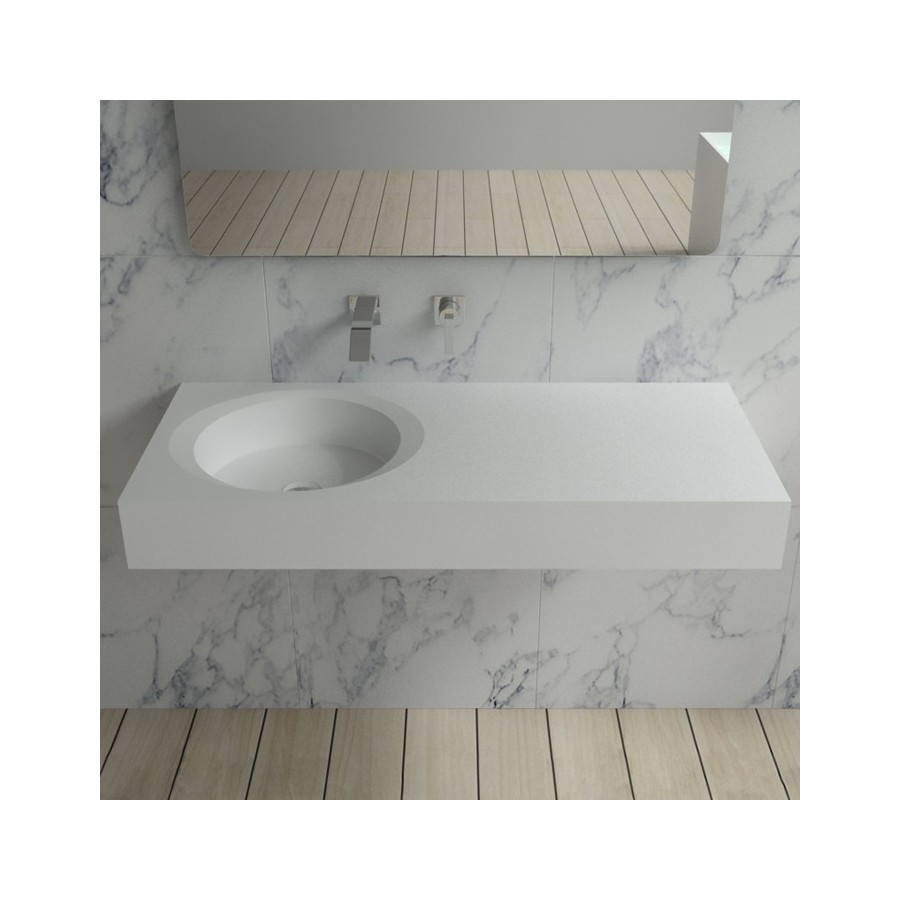 SDBK800 Plan vasque en solid surface suspendu