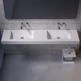 Double plan vasque solid surface Réf : SDPW28