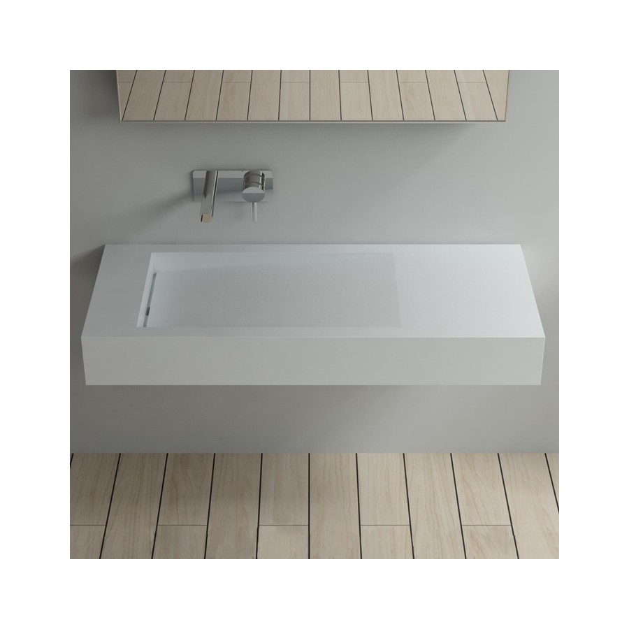 Plan vasque en solid surface SDPW12-B suspendu