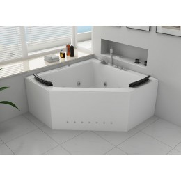 Duo Baignoire Balnéo d'angle whirlpool 31 jets