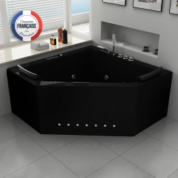 duo black baignoire baln o d 39 angle whirlpool 31 jets. Black Bedroom Furniture Sets. Home Design Ideas
