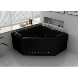 Duo Black Baignoire Balnéo d'angle whirlpool 31 jets