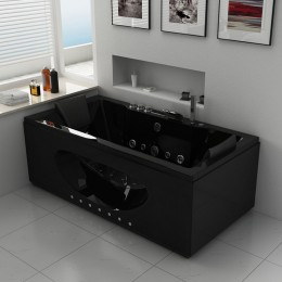 ca man black baignoire baln o rectangulaire whirlpool 32 jets. Black Bedroom Furniture Sets. Home Design Ideas