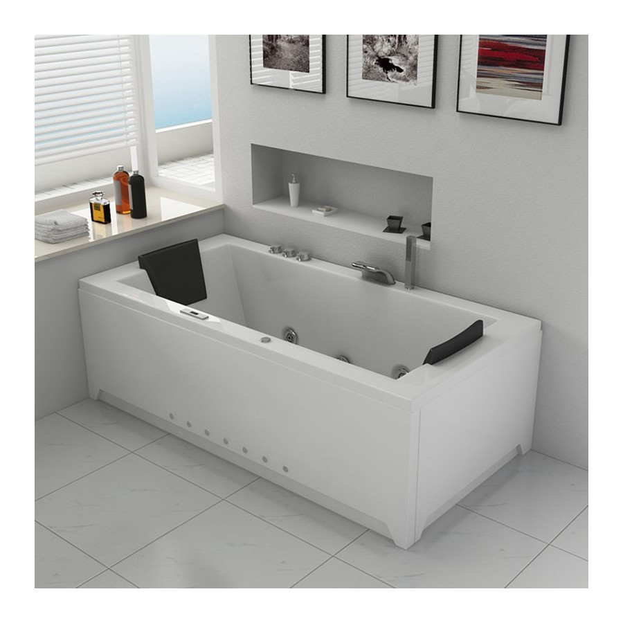 baignoire baln oth rapie avec jets de massage london blanche. Black Bedroom Furniture Sets. Home Design Ideas