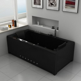 london black baignoire baln o rectangulaire whirlpool 32 jets. Black Bedroom Furniture Sets. Home Design Ideas