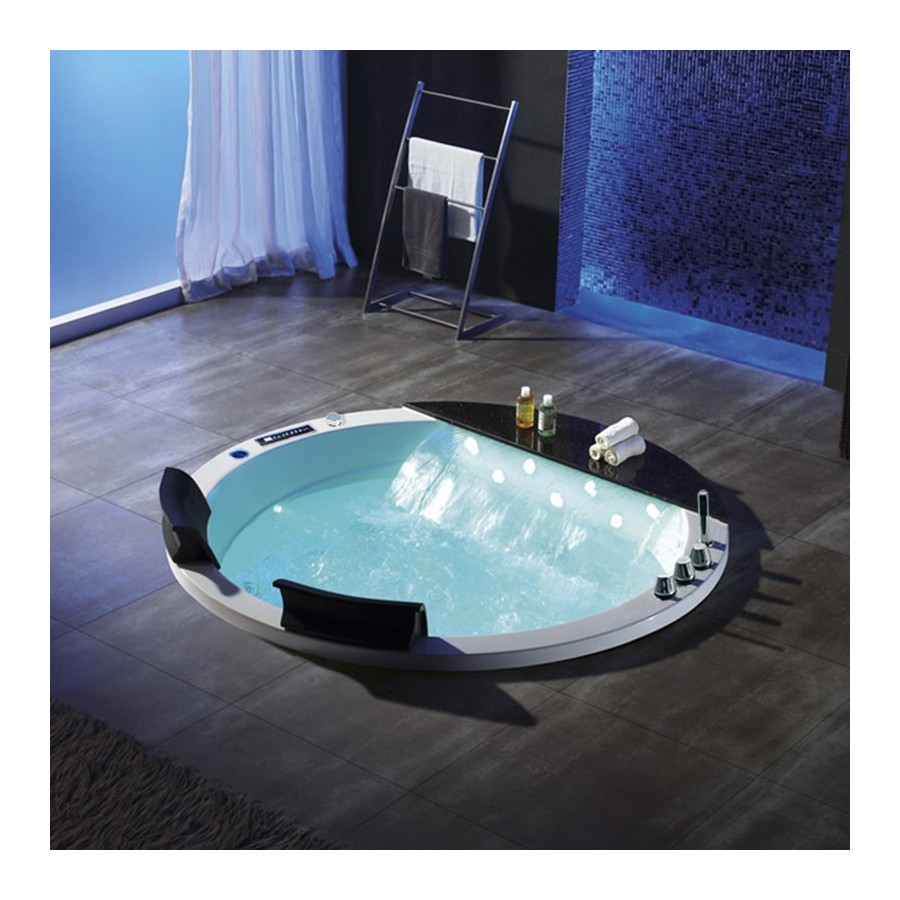 noumea baignoire baln o ronde encastrable whirlpool 24 jets. Black Bedroom Furniture Sets. Home Design Ideas