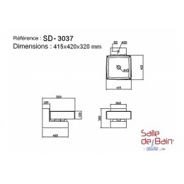 Dimensions du lave main suspendu SD3037