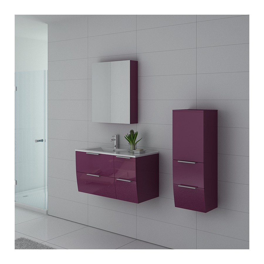 parme au meuble salle de bain aubergine. Black Bedroom Furniture Sets. Home Design Ideas