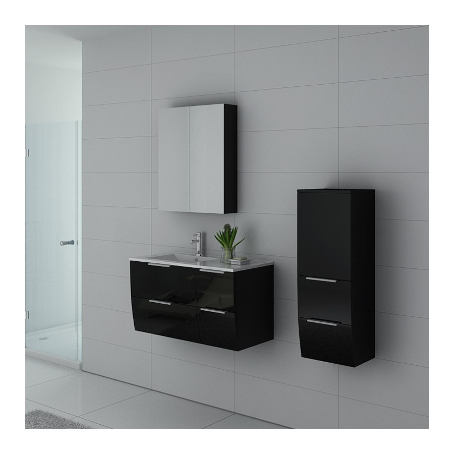parme n meuble salle de bain noir. Black Bedroom Furniture Sets. Home Design Ideas