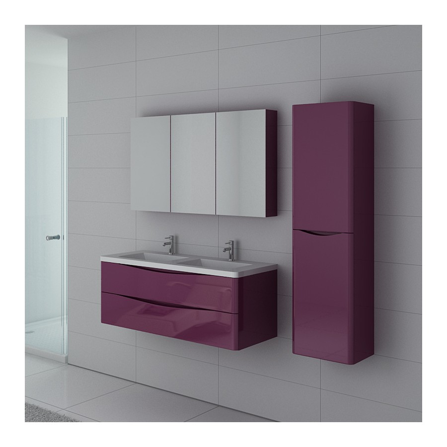 trevise au meubles de salle de bain aubergine. Black Bedroom Furniture Sets. Home Design Ideas