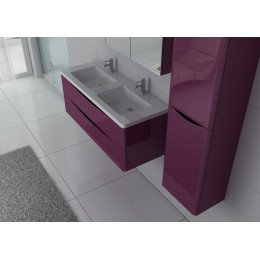 Ensemble double vasque TREVISE Aubergine