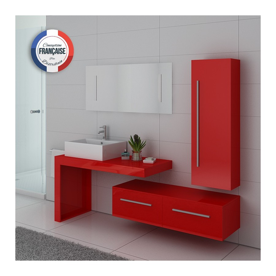 dis9250co meuble salle de bain couleur rouge coquelicot. Black Bedroom Furniture Sets. Home Design Ideas