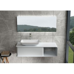 Plan de toilette et vasque SDVP7L + SDVP5 en solid surface