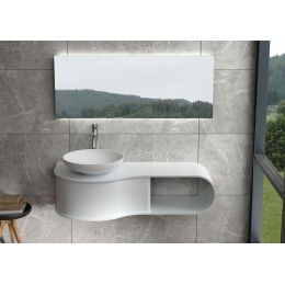 Plan de toilette et vasque SDVP9L+SDVP3 en solid surface