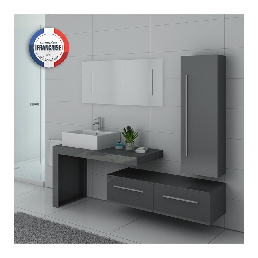 dis9250gt meuble salle de bain gris. Black Bedroom Furniture Sets. Home Design Ideas