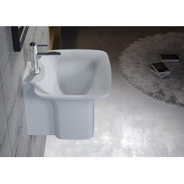 Vasque SDN2 en solid surface blanc mat