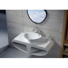 Plan de toilette et vasque triangulaire SDK51+SDV34
