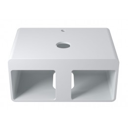 Plan de toilette SDK54 rectangulaire deux niches en solid surface