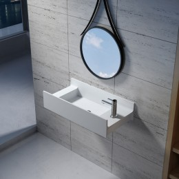 Vasque murale solid surface version droite SDV67R