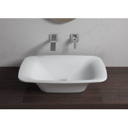 Vasque rectangulaire en solid surface blanc mat SDV36