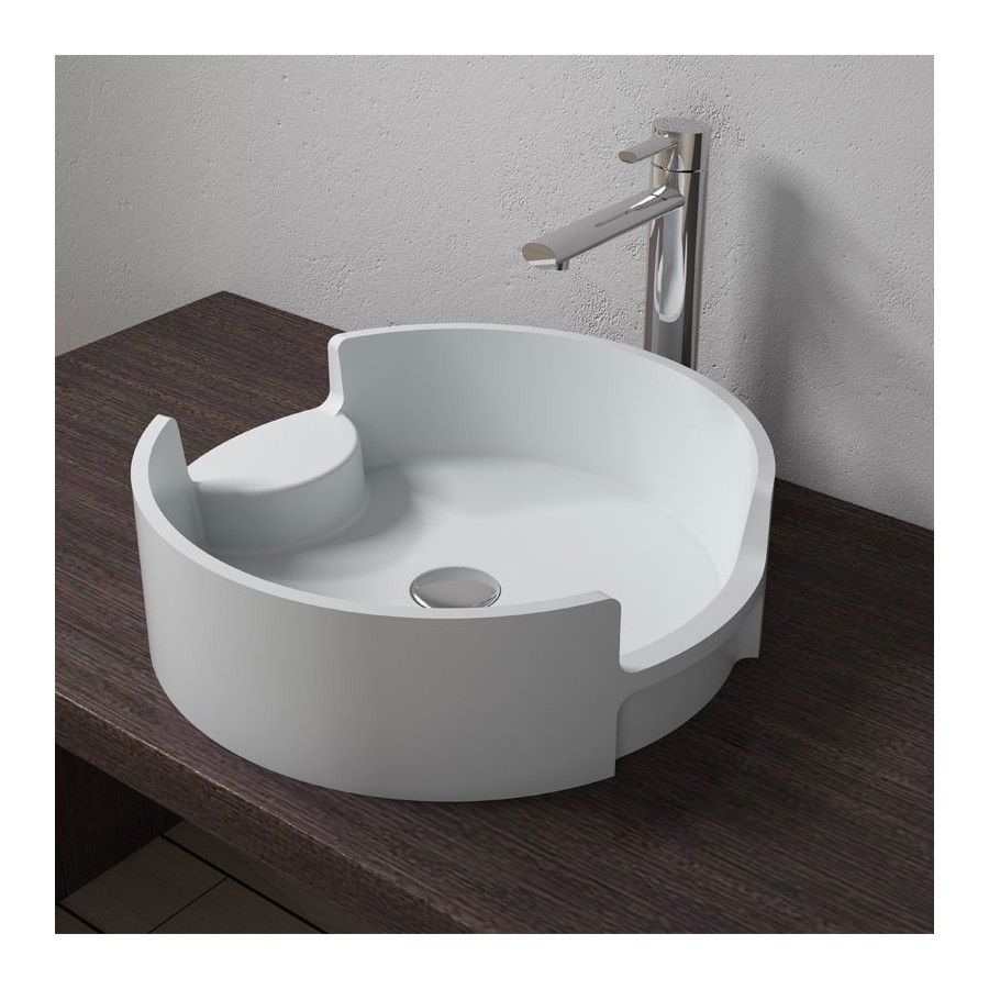 Vasque design ronde en solid surface, SDV69