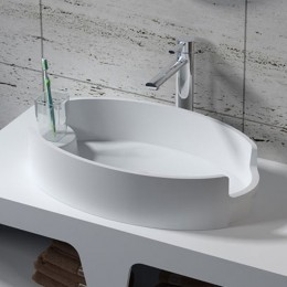 Vasque design ovale en solid surface, SDV70