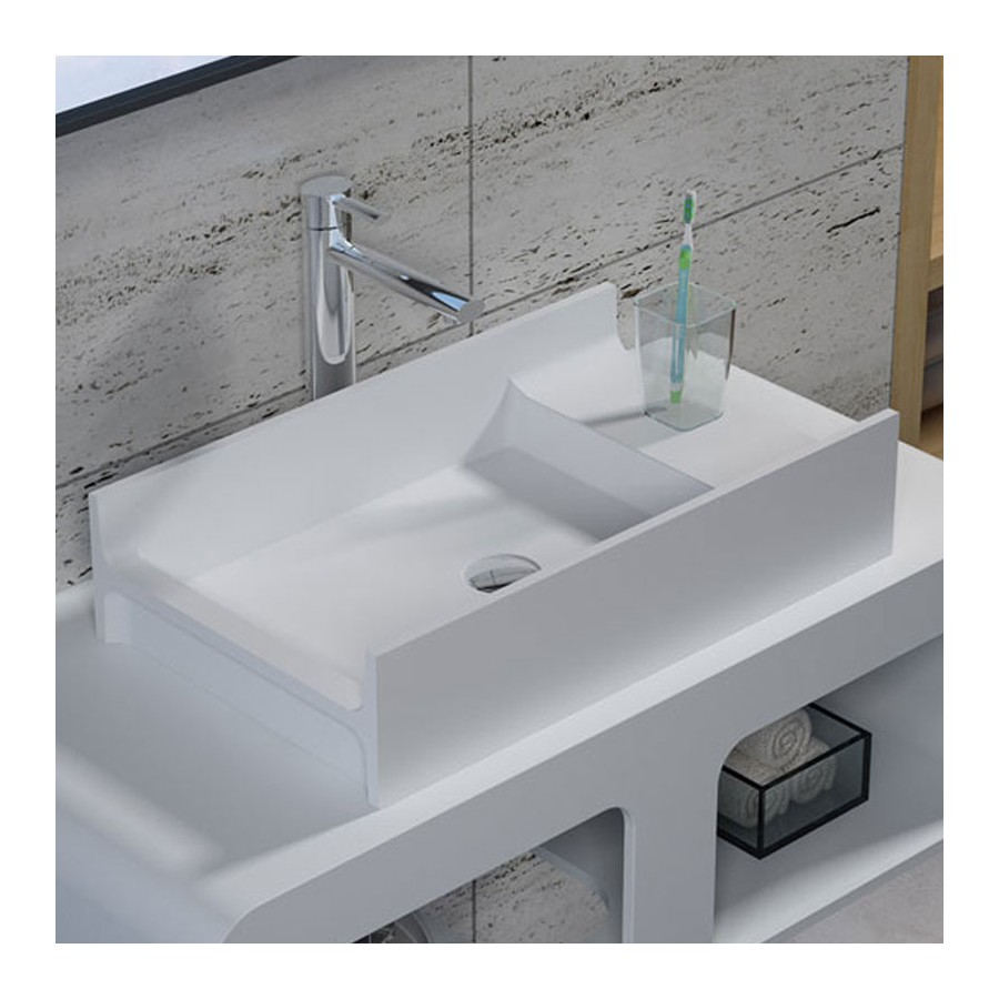 Vasque design rectangulaire en solid surface, SDV71