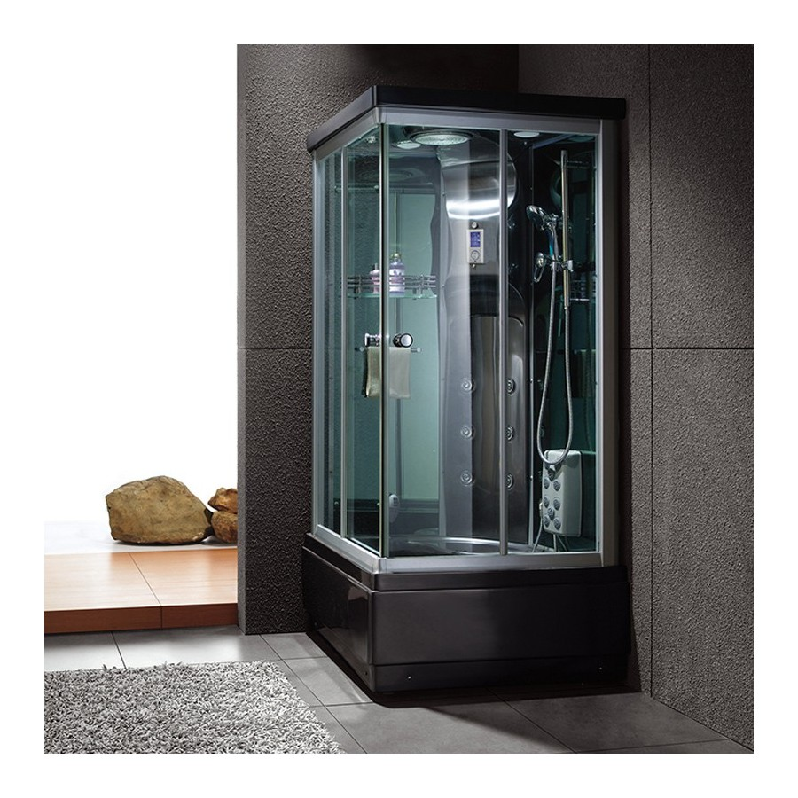 waikini black cabine de douche hammam. Black Bedroom Furniture Sets. Home Design Ideas