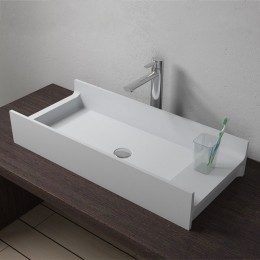 Vasque design rectangulaire en solid surface, SDV72