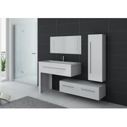 Ensemble de salle de bain simple vasque Blanc DIS9251B