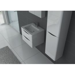 TREVISE 600 B Meuble simple vasque Blanc
