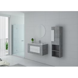 Ensemble de salle de bain simple vasque CASTELLO 1000 BT-B