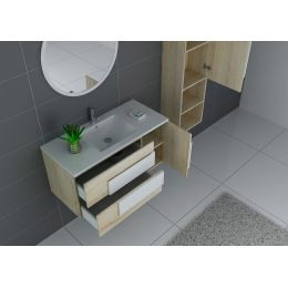 Meuble de salle de bain simple vasque CASTELLO 1000 SC-B