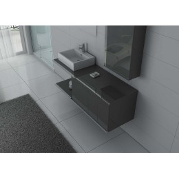 DIS9450GT Ensemble salle de bain simple vasque gris taupe