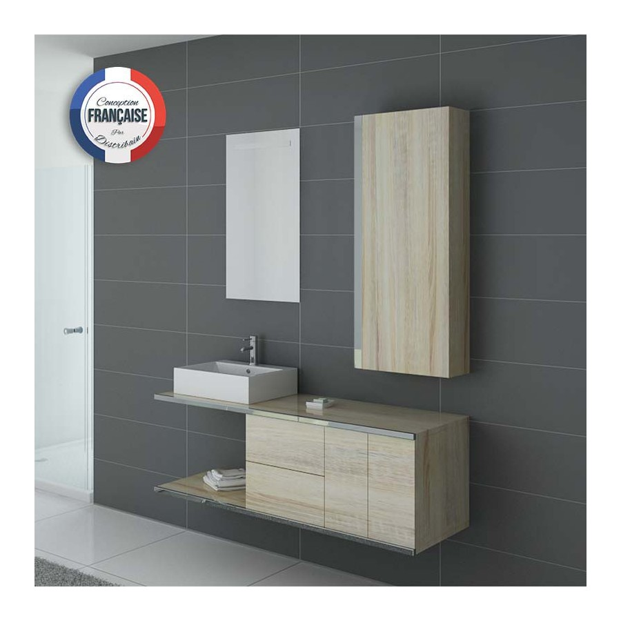 dis9450sc meuble salle de bain couleur bois scandinave. Black Bedroom Furniture Sets. Home Design Ideas