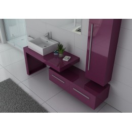 DIS9250AU Meuble simple vasque aubergine