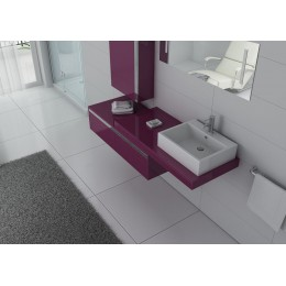 Meuble simple vasque aubergine DIS9550AU