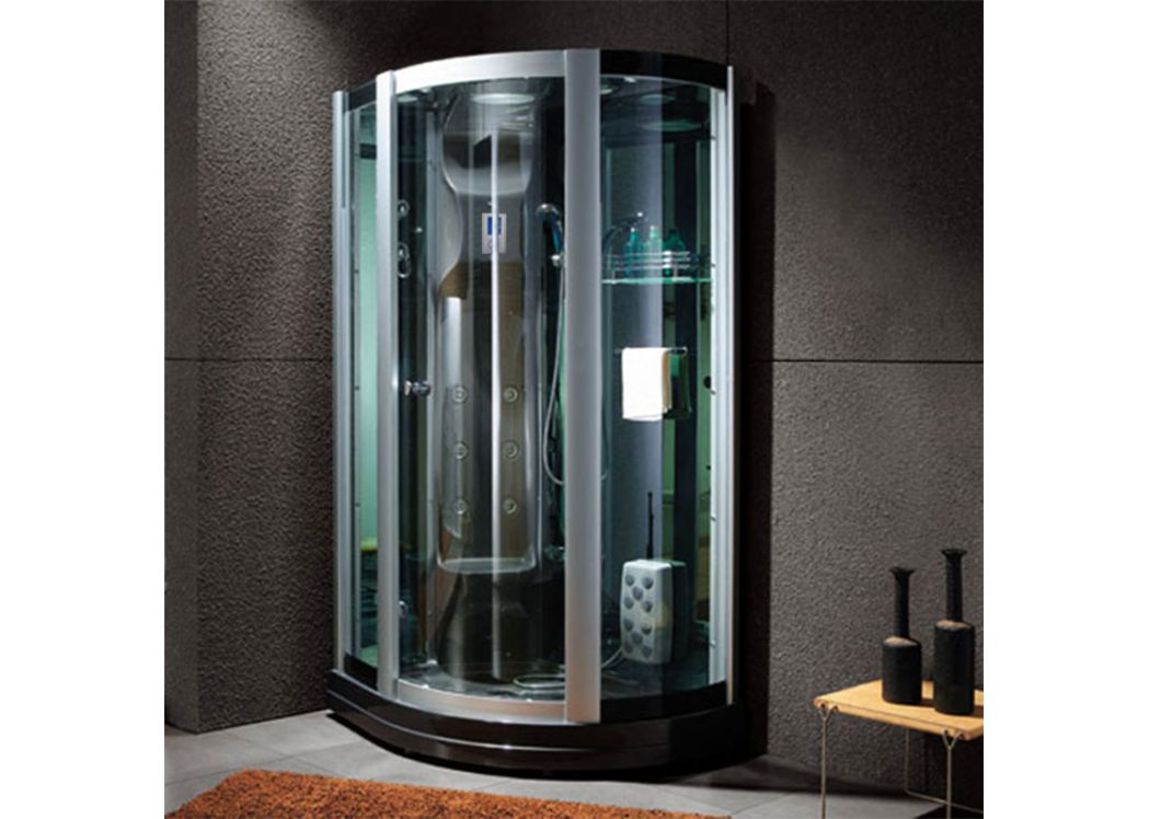 cabine de douche hammam g riviera black cabine de douche hydromassante 16 jets. Black Bedroom Furniture Sets. Home Design Ideas