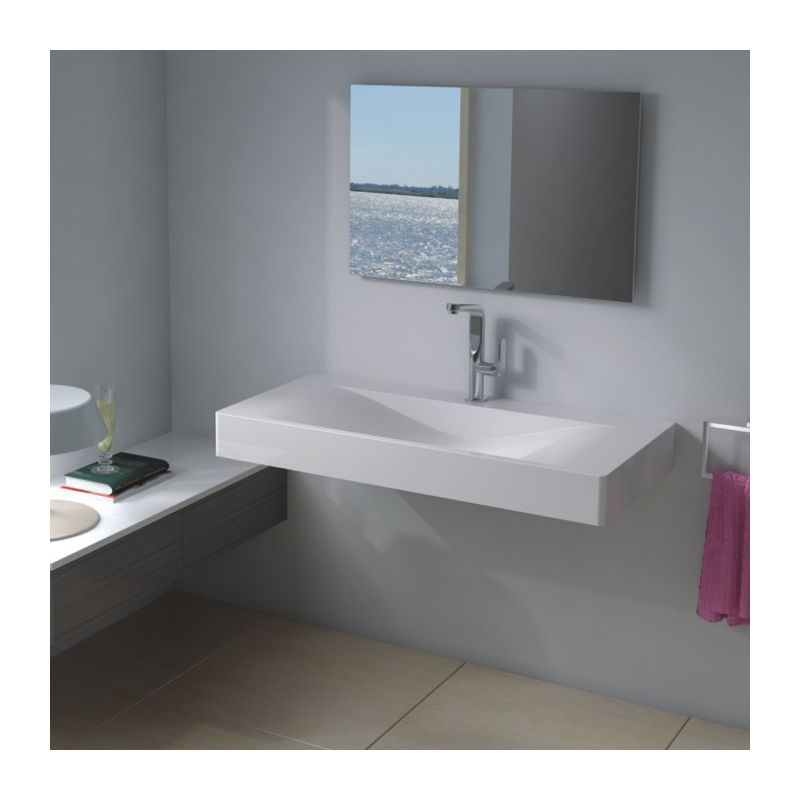 Plan vasque en solid surface SDP03-B