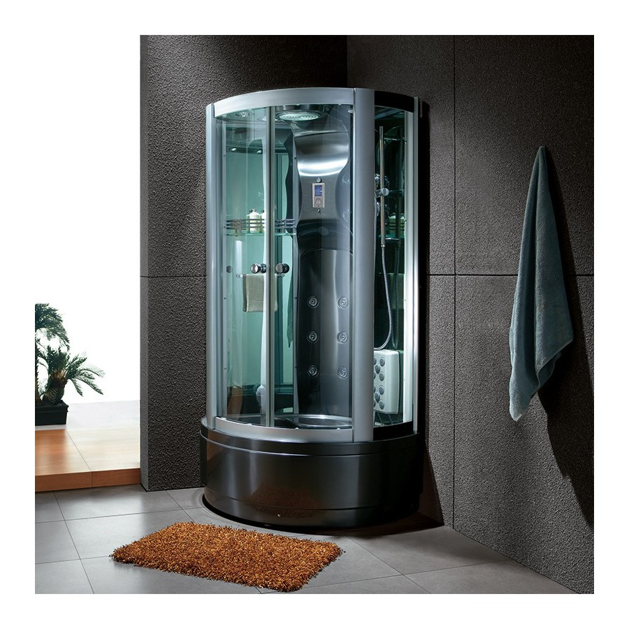 saona black cabine de douche hammam. Black Bedroom Furniture Sets. Home Design Ideas