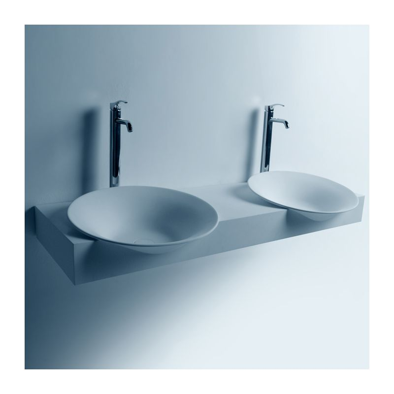 SDWD3888 Double plan vasque en solid surface avec vasques rondes
