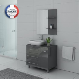 TOSCANE GT Meuble simple vasque Gris Taupe